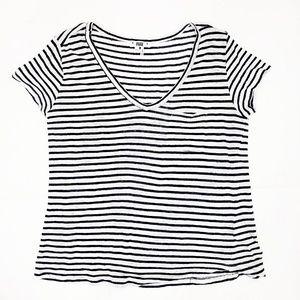 PAIGE Short Sleeve T-Shirt Navy White